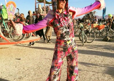 Colorful Karin Rocking her Designs by M Onesie at Burningman Optimized